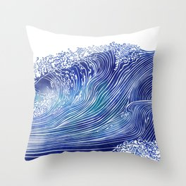 Pacific Waves Throw Pillow