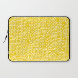 Microchip Pattern (Yellow) Laptop Sleeve