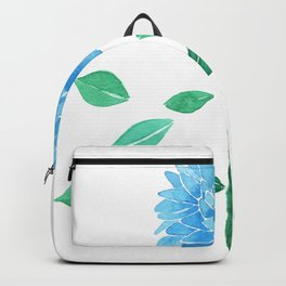 Blue watercolor flower Backpack