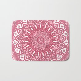 Red Wine Color Mandala Minimal Minimalistic Simple (Yet Bold) Bath Mat