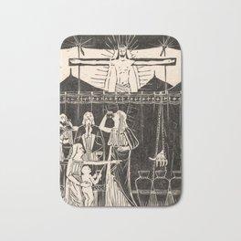 Drinking people under crucified Christ, Mathieu Lauweriks, 1935 Bath Mat