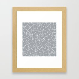 Abstraction Outline Grey Framed Art Print