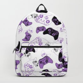 Video Game White & Lavender Backpack