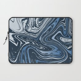 Navy Blue Liquid Marble Laptop Sleeve