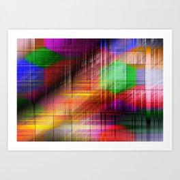 colourful linings II Art Print