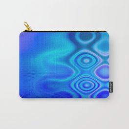 Dots in Motion (watery blues) Carry-All Pouch