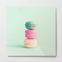 Three colorful macaroons Metal Print