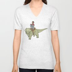 A Boy and his Dinosaur Unisex V-Neck