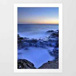 Blue seaside Art Print