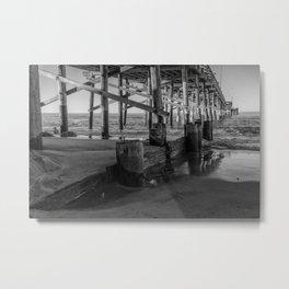 Newport Pier Sands Metal Print