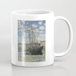 Claude Monet - Boats Lying at Low Tide at Facamp Coffee Mug