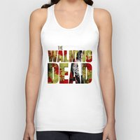rick grimes Tank Tops featuring Rick Grimes Sacrifice and blood by Pablo Napo