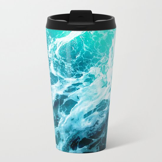 Out there in the Ocean Metal Travel Mug