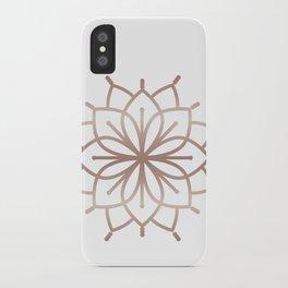 Rose Gold Mandala - Metalic Rose Pink iPhone Case