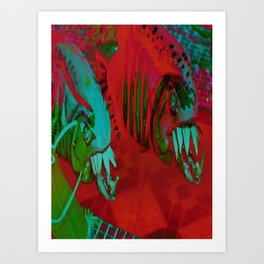 Puppet Piranhas Art Print