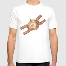 Magnemite MEDIUM Mens Fitted Tee White