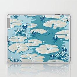 Monets Waterlily Pattern — Teal Laptop & iPad Skin
