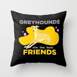 Greyhound, Greyhound italian, Greyhound  dog Throw Pillow