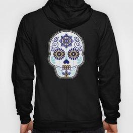 Día de Muertos • Mexican Sugar Skull – Baby Blue Palette Hoody