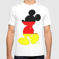 German Mickey Maus Mens Fitted Tee MEDIUM White