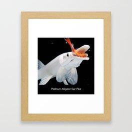 Platinum Alligator Gar Pike Framed Art Print