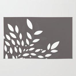 armonia 2 gray leaves Rug