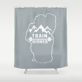 Train Higher Tahoe Shower Curtain
