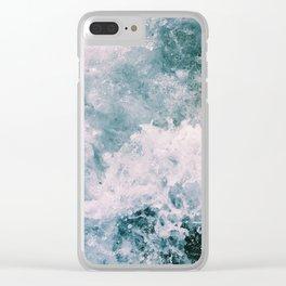 Beach Waves Crashing Clear iPhone Case