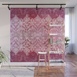 ABERDEEN HEIRLOOM, LACE & DAMASK: REBECCA'S RED Wall Mural