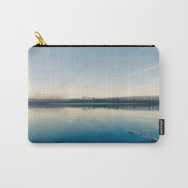 A blue  winter lake Carry-All Pouch