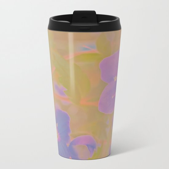 Georgia Blue, The Earth Laughs In Flowers Metal Travel Mug
