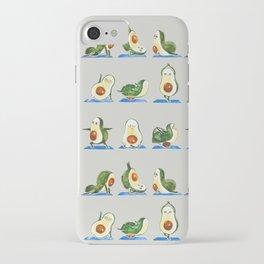 Avocado Yoga Watercolor iPhone Case