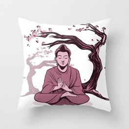 Buddha Relaxing Throw Pillow