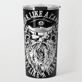 Captain Pirate Sailor Design Travel Mug