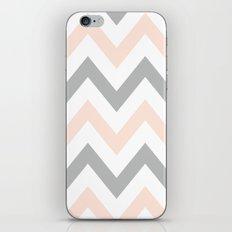 PEACH & GRAY CHEVRON iPhone & iPod Skin