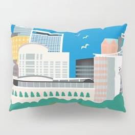 Hartford, Connecticut - Skyline Illustration by Loose Petals Pillow Sham