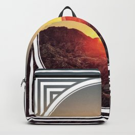 Peel Sunset  - line/circle graphic Backpack