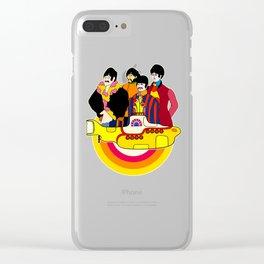 Yellow Submarine - Pop Art Clear iPhone Case