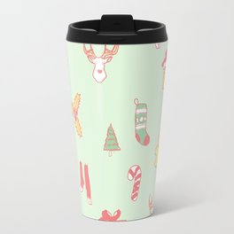 Pastel Bright Christmas Travel Mug
