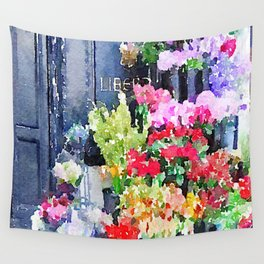 Liberté Floral Watercolor Wall Tapestry
