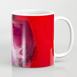 Colorful Modern Wine Art - Wine Bottle & glasses) Coffee Mug