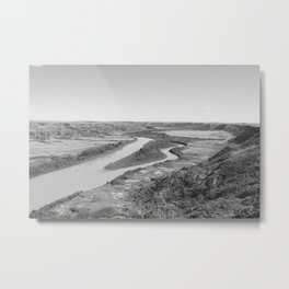 River Drumheller Badlands Metal Print