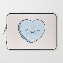 Blue Sweet Candy Heart Laptop Sleeve