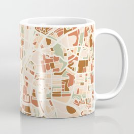 TEL AVIV ISRAEL CITY MAP EARTH TONES Coffee Mug