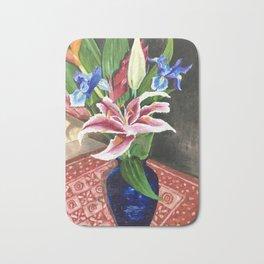 Fresh flowers Bath Mat