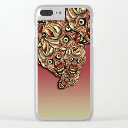 Zombie Crowd Clear iPhone Case