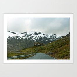Cabin in the Mountains (Norway) Art Print