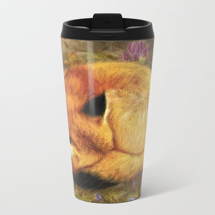 The Cozy Fox Metal Travel Mug