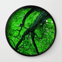 Emerald Leafage Wall Clock
