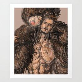 Teddy Bear Guy Zoom Art Print